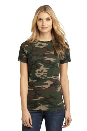 District Made ®  - Ladies Perfect Weight ®  Camo Crew Tee DM104CL