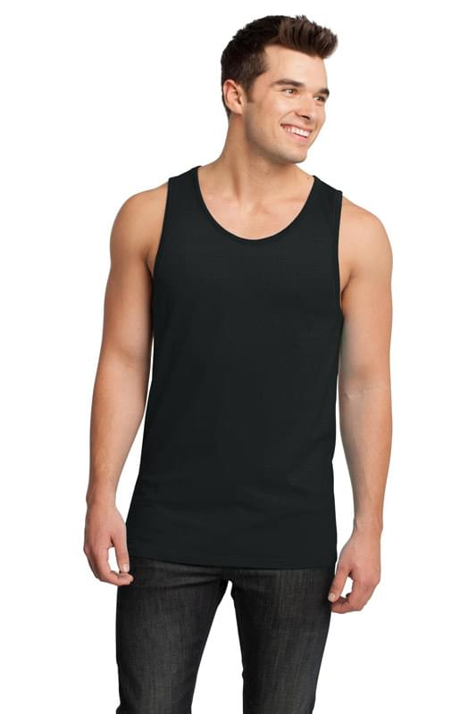 District ®  - Young Mens Cotton Ringer Tank DT1500