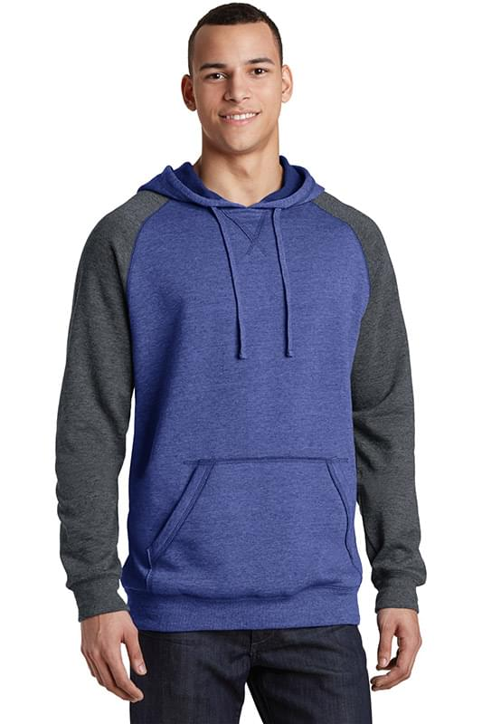 District ®  Young Mens Lightweight Fleece Raglan Hoodie.  DT196