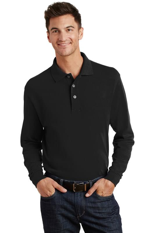 Port Authority ®  Long Sleeve Heavyweight Cotton Pique Polo. K320