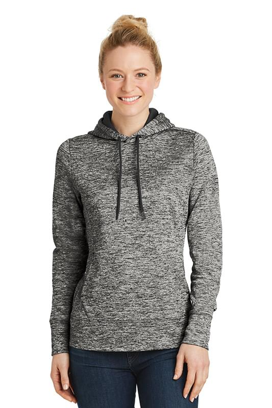 Sport-Tek ®  Ladies PosiCharge ®  Electric Heather Fleece Hooded Pullover. LST225