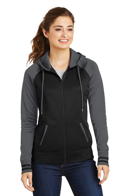 Sport-Tek ®  Ladies Sport-Wick ®  Varsity Fleece Full-Zip Hooded Jacket. LST236