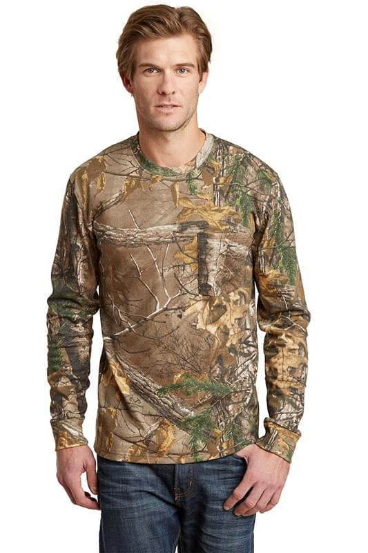 Russell Outdoors ™  Realtree ®  Long Sleeve Explorer 100% Cotton T-Shirt with Pocket. S020R