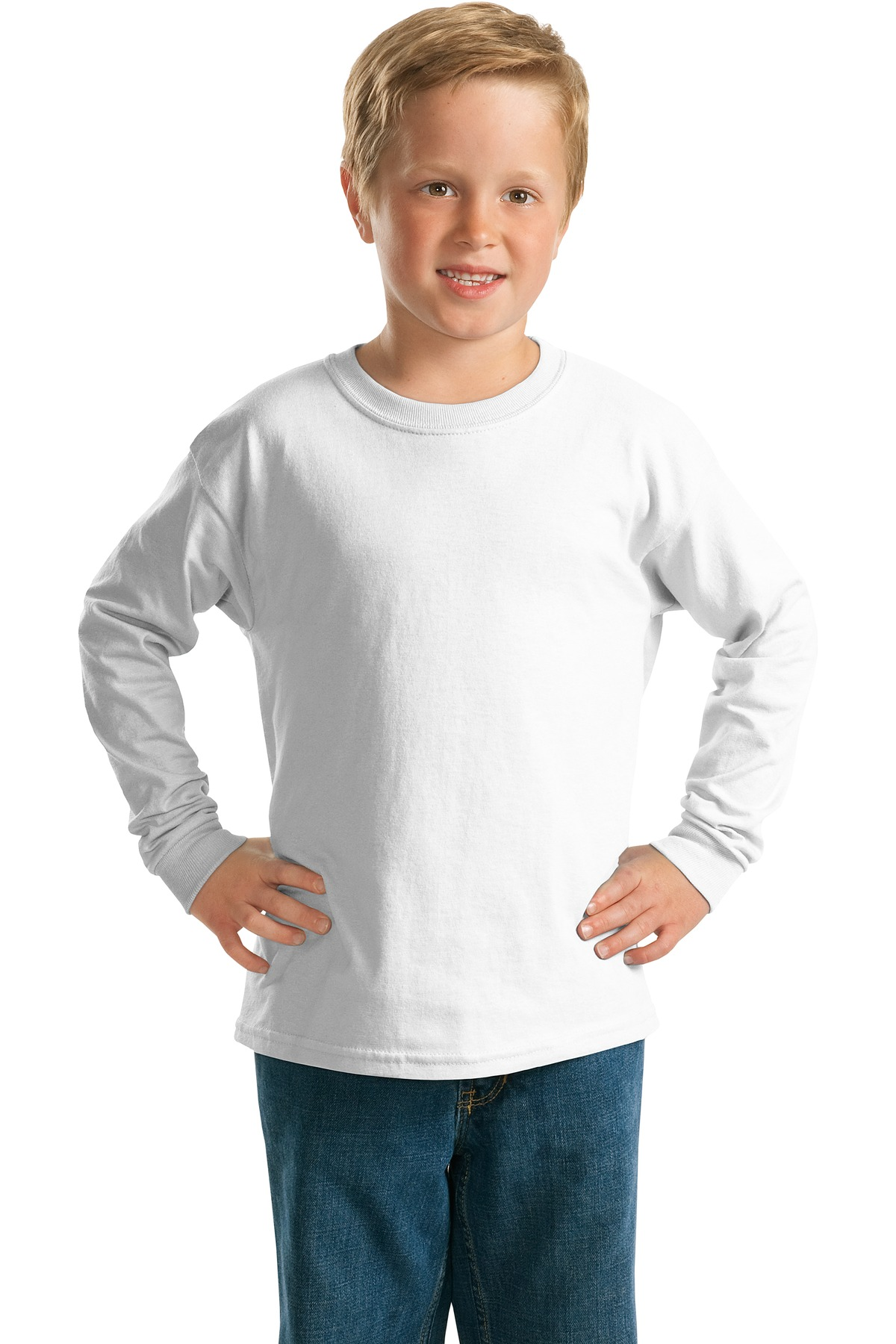 Gildan ®  - Youth Ultra Cotton ®  Long Sleeve T-Shirt.  2400B