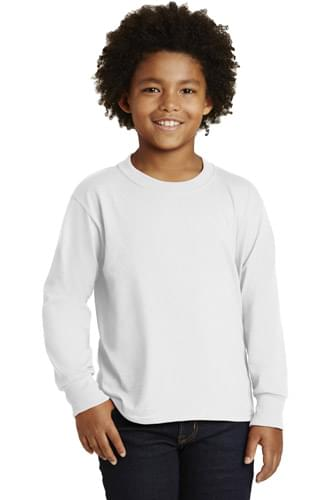 JERZEES ®  Youth Dri-Power ®   Active 50/50 Cotton/Poly Long Sleeve T-Shirt. 29BL