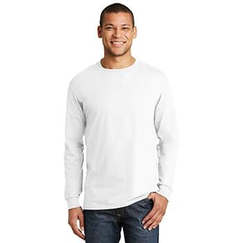 Hanes ®  Beefy-T ®  -  100% Cotton Long Sleeve T-Shirt.  5186