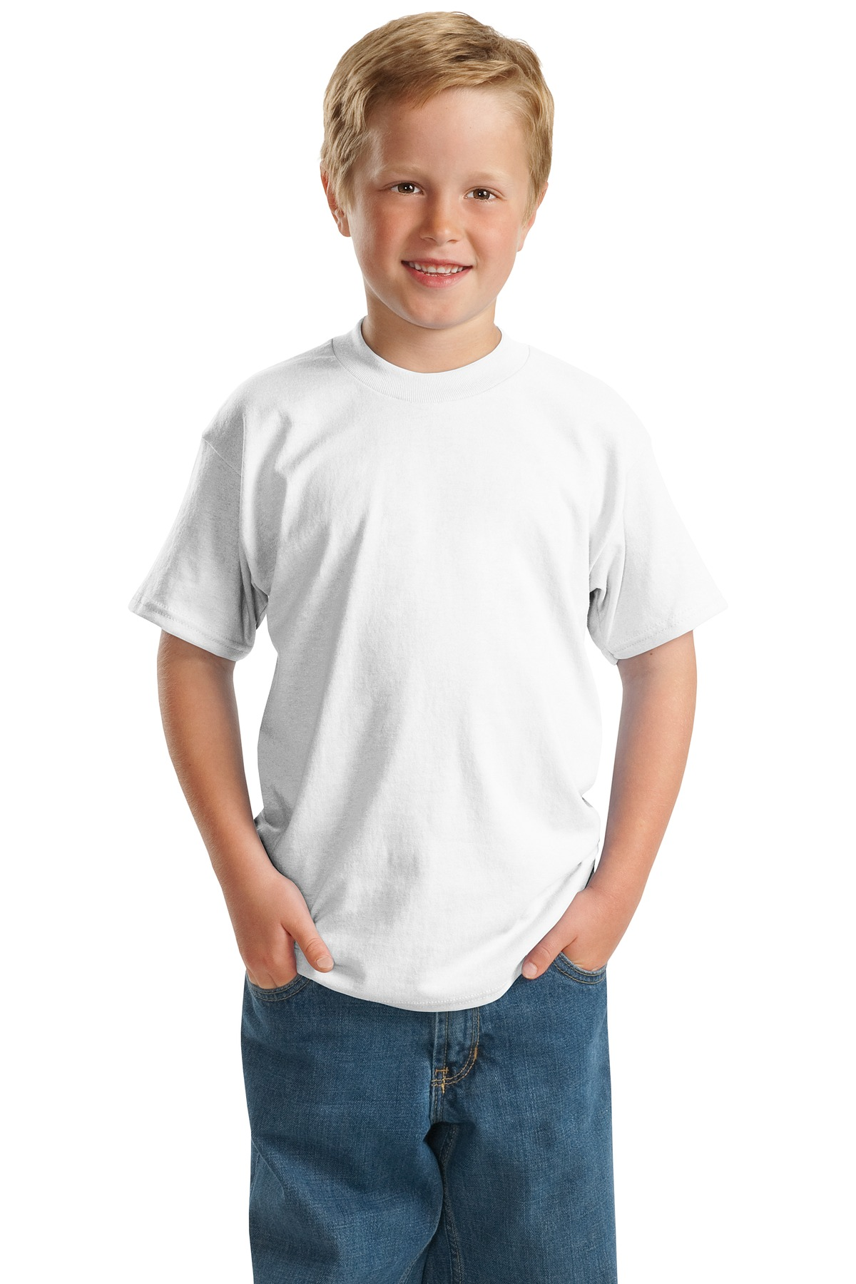 Hanes® - Youth EcoSmart ®  50/50 Cotton/Poly T-Shirt.  5370