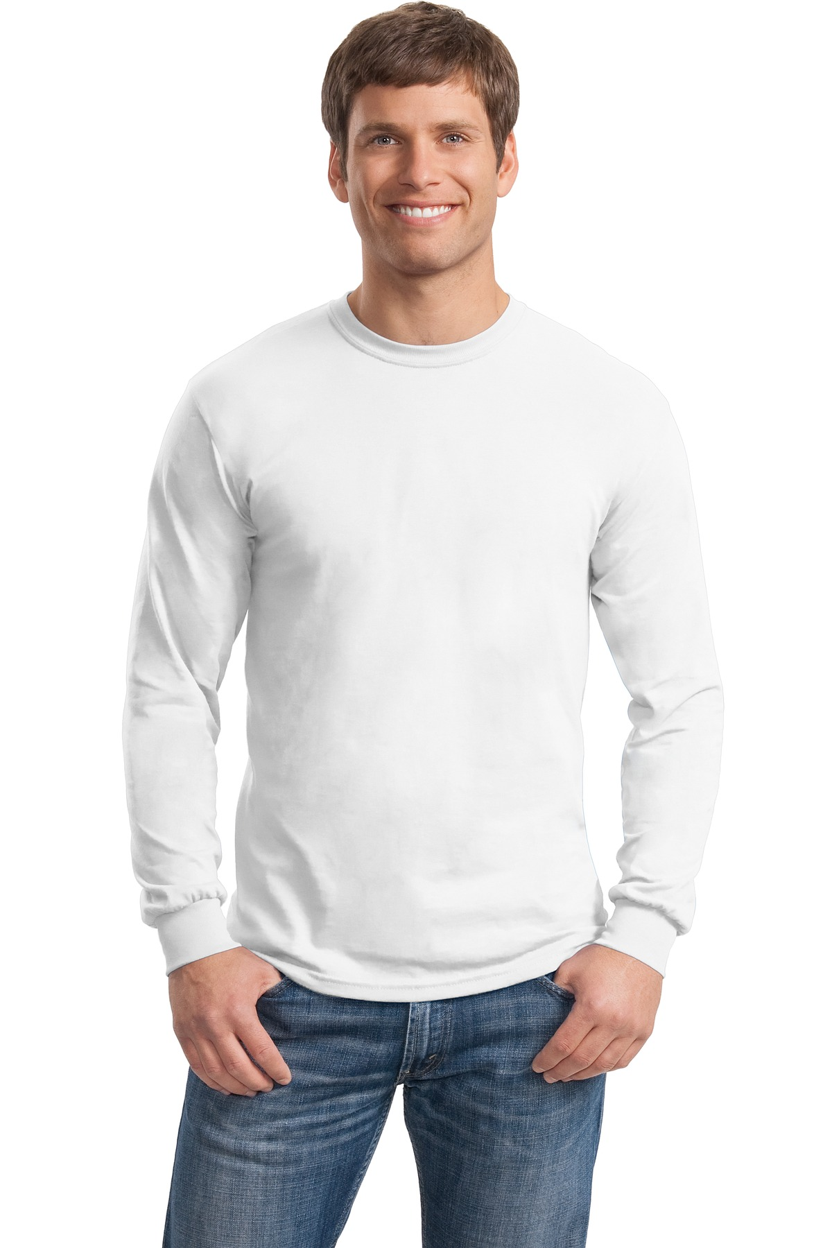 Gildan ®  - Heavy Cotton ™  100% Cotton Long Sleeve T-Shirt.  5400