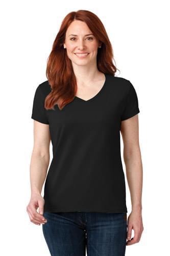 Anvil ®  Ladies 100% Ring Spun Cotton V-Neck T-Shirt. 88VL