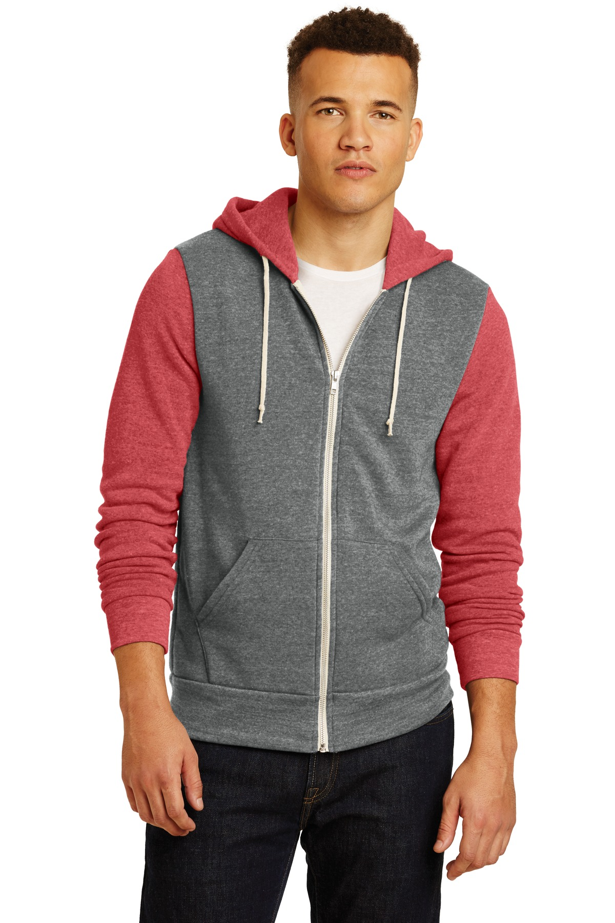 Alternative ®  Colorblock Rocky Eco-Fleece Zip Hoodie. AA32023