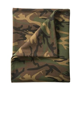 Port & Company ®  Core Fleece Camo Sweatshirt Blanket. BP78C