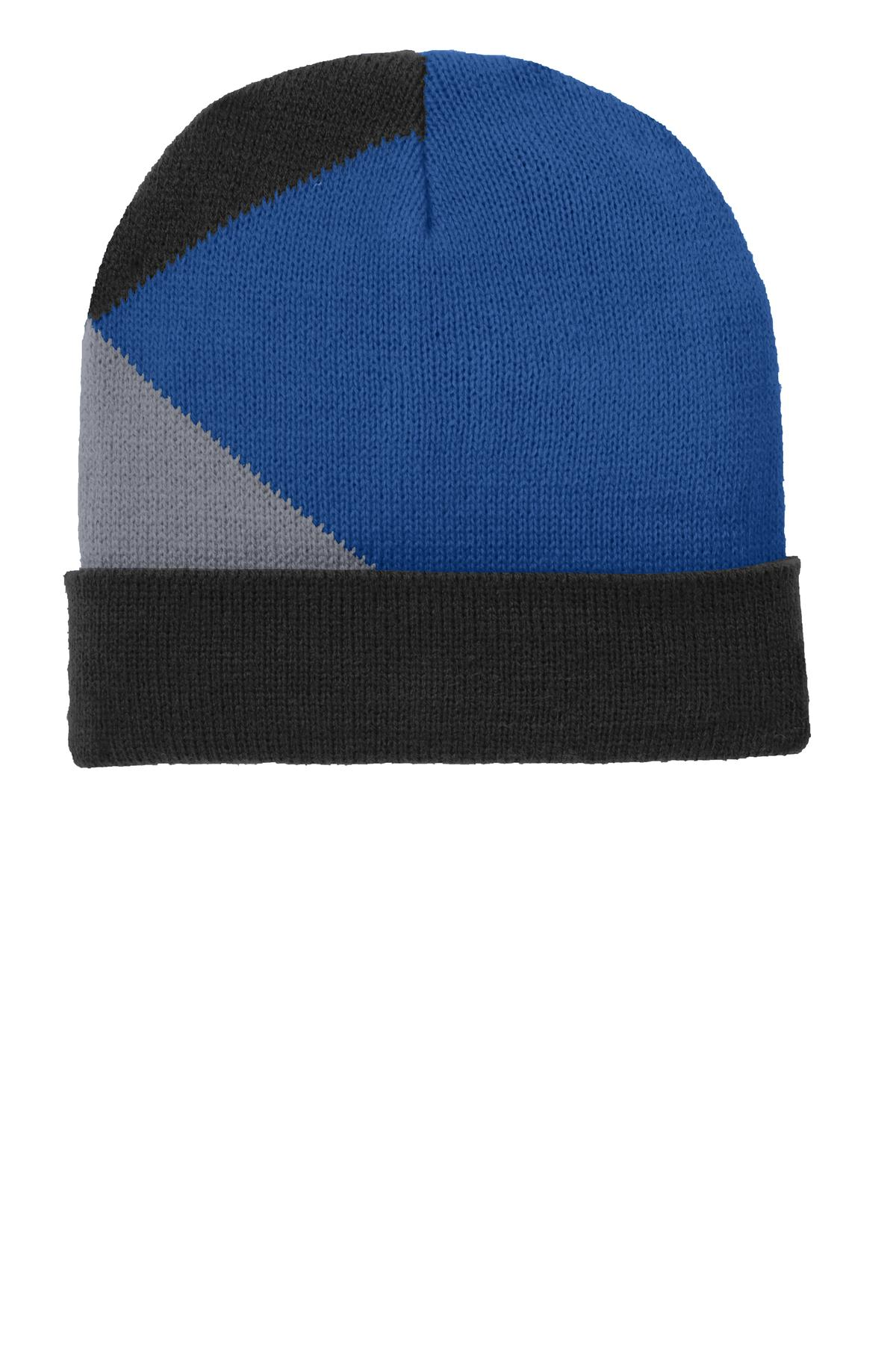 Port Authority ®  Cuffed Colorblock Beanie. C906