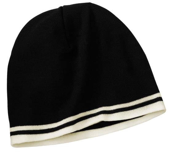 Port & Company ®  - Fine Knit Skull Cap with Stripes.   CP93