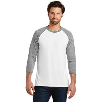 District Made ®  Mens Perfect Tri ®  3/4-Sleeve Raglan. DM136