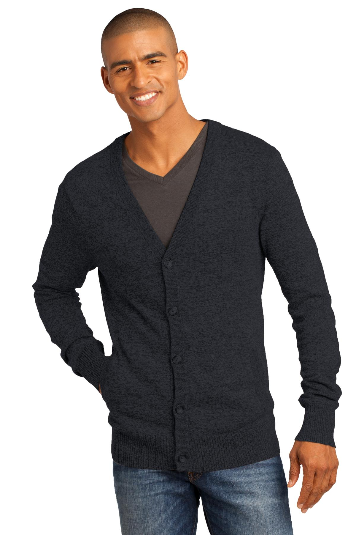 District Made ®  - Mens Cardigan Sweater. DM315