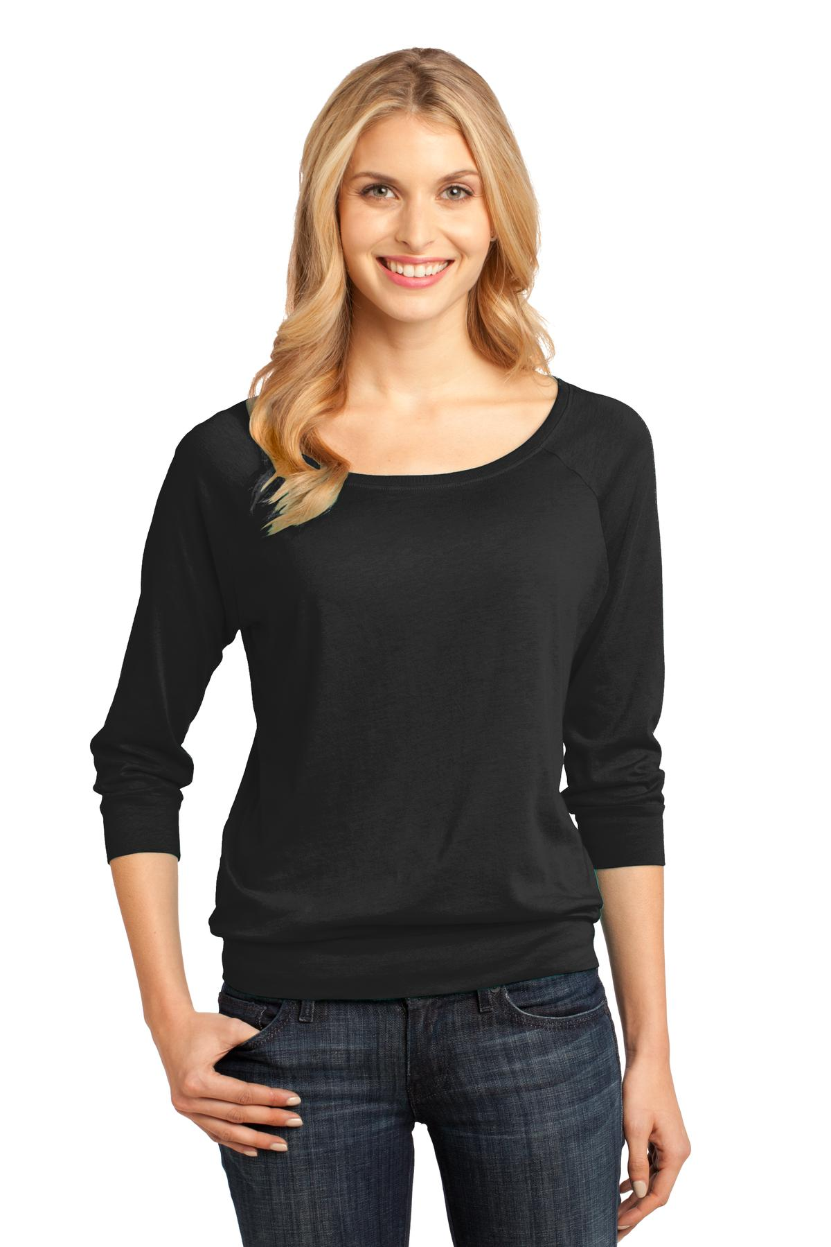 District Made ®  - Ladies Modal Blend 3/4-Sleeve Raglan DM482