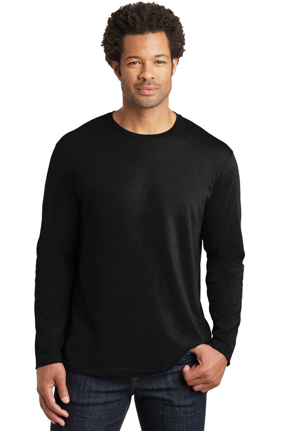 District Made ®  Mens Perfect Weight ®  Long Sleeve Tee. DT105