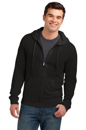District ®  Young Mens Jersey Full-Zip Hoodie. DT1100