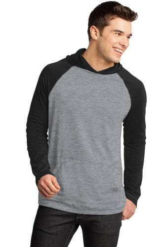District ®  - Young Mens 50/50 Raglan Hoodie. DT128