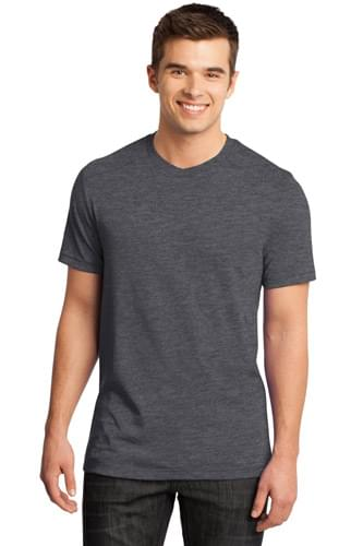 District ®  - Young Mens Gravel 50/50 Notch Crew Tee. DT1400