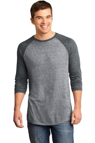 District ®  - Young Mens Microburn ®  3/4-Sleeve Raglan Tee. DT162