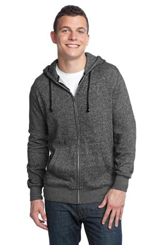 District ®  - Young Mens Marled Fleece Full-Zip Hoodie DT192