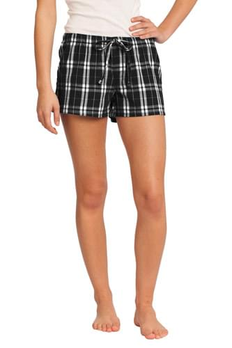 District ®  -Juniors Flannel Plaid Boxer. DT2801