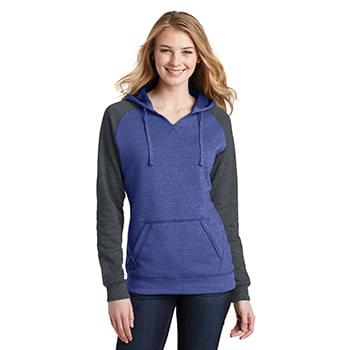 District ®  Juniors Lightweight Fleece Raglan Hoodie.  DT296