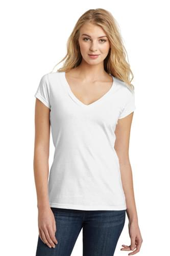 District ®  Juniors Very Important Tee ®  Deep V-Neck. DT6502