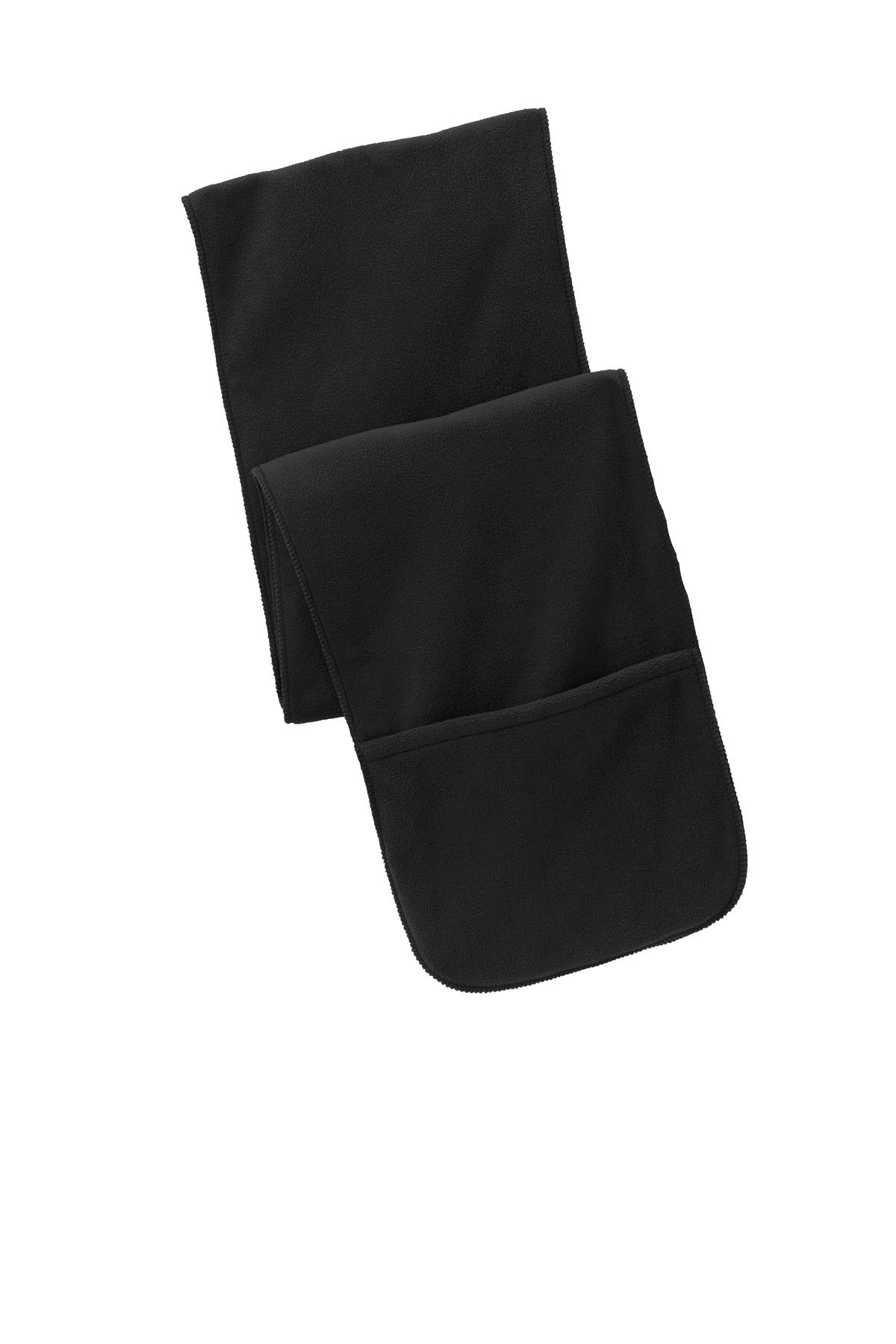 Port Authority ®  Extra Long Fleece Scarf with Pockets. FS06