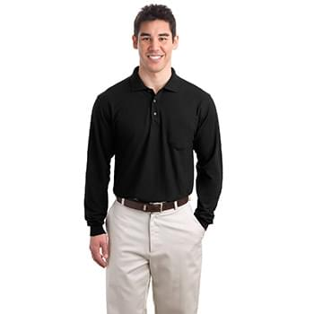 Port Authority ®  Tall Silk Touch™ Long Sleeve Polo with Pocket. TLK500LSP