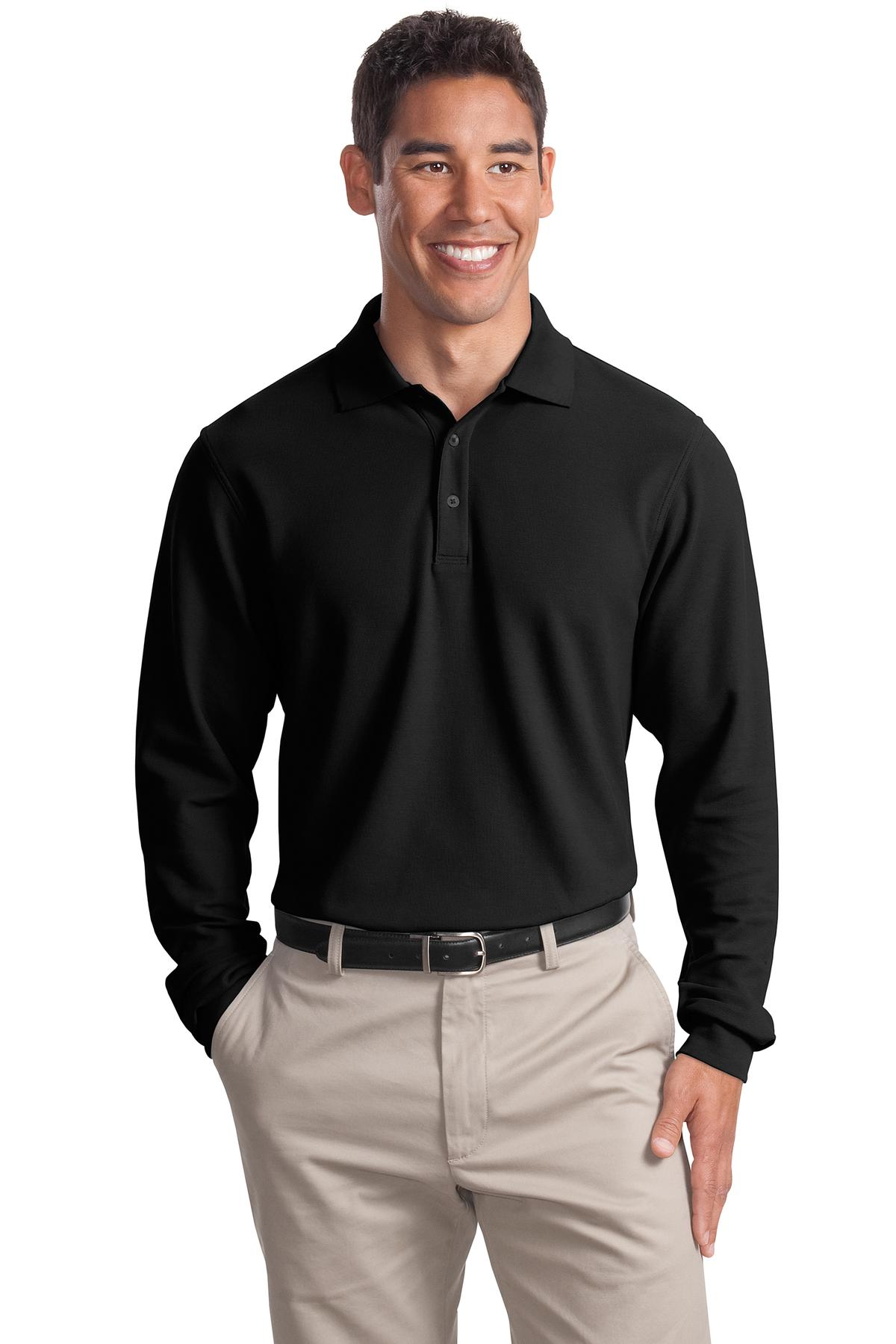 Port Authority ®  Tall Long Sleeve EZCotton™ Pique Polo. TLK800LS