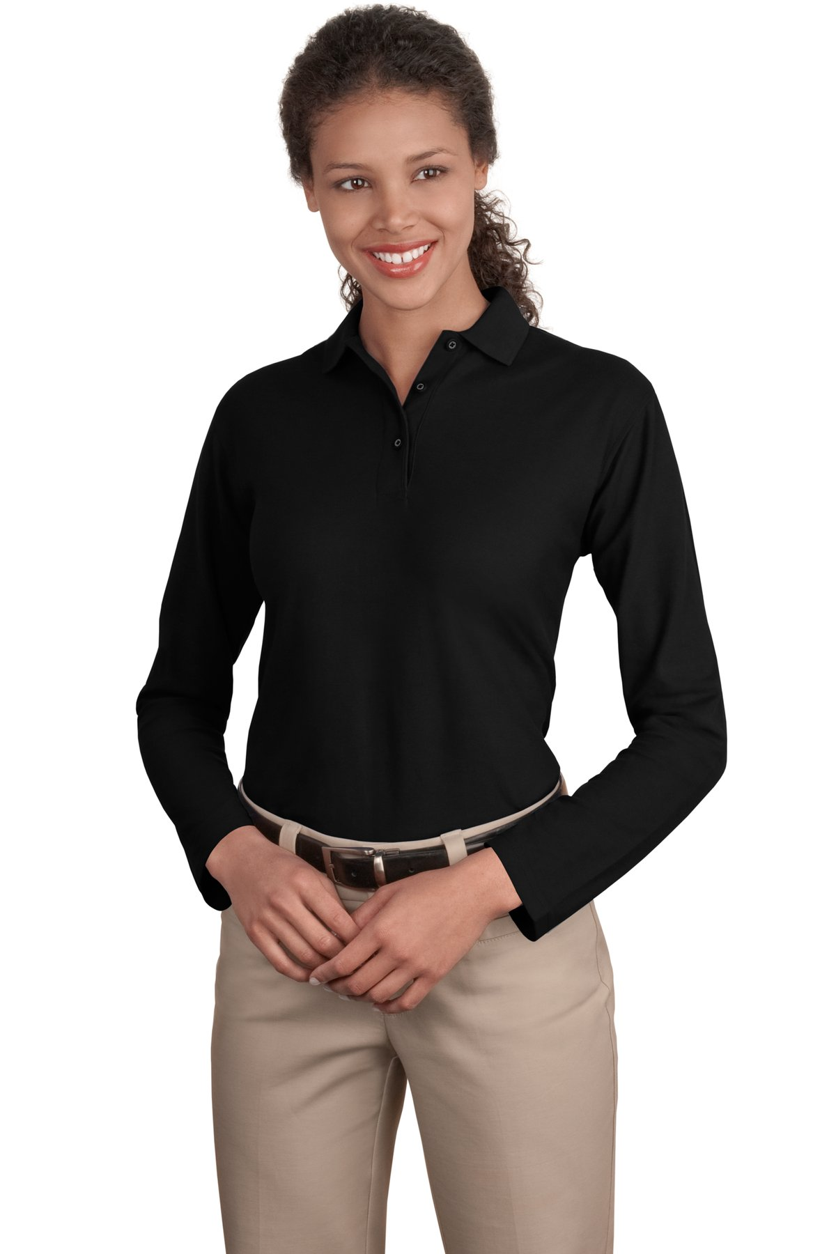 Port Authority ®  Ladies  Silk Touch™ Long Sleeve Polo.  L500LS