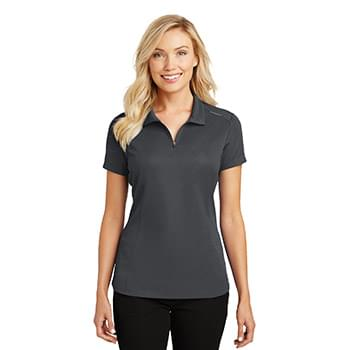 Port Authority ®  Ladies Pinpoint Mesh Zip Polo. L580