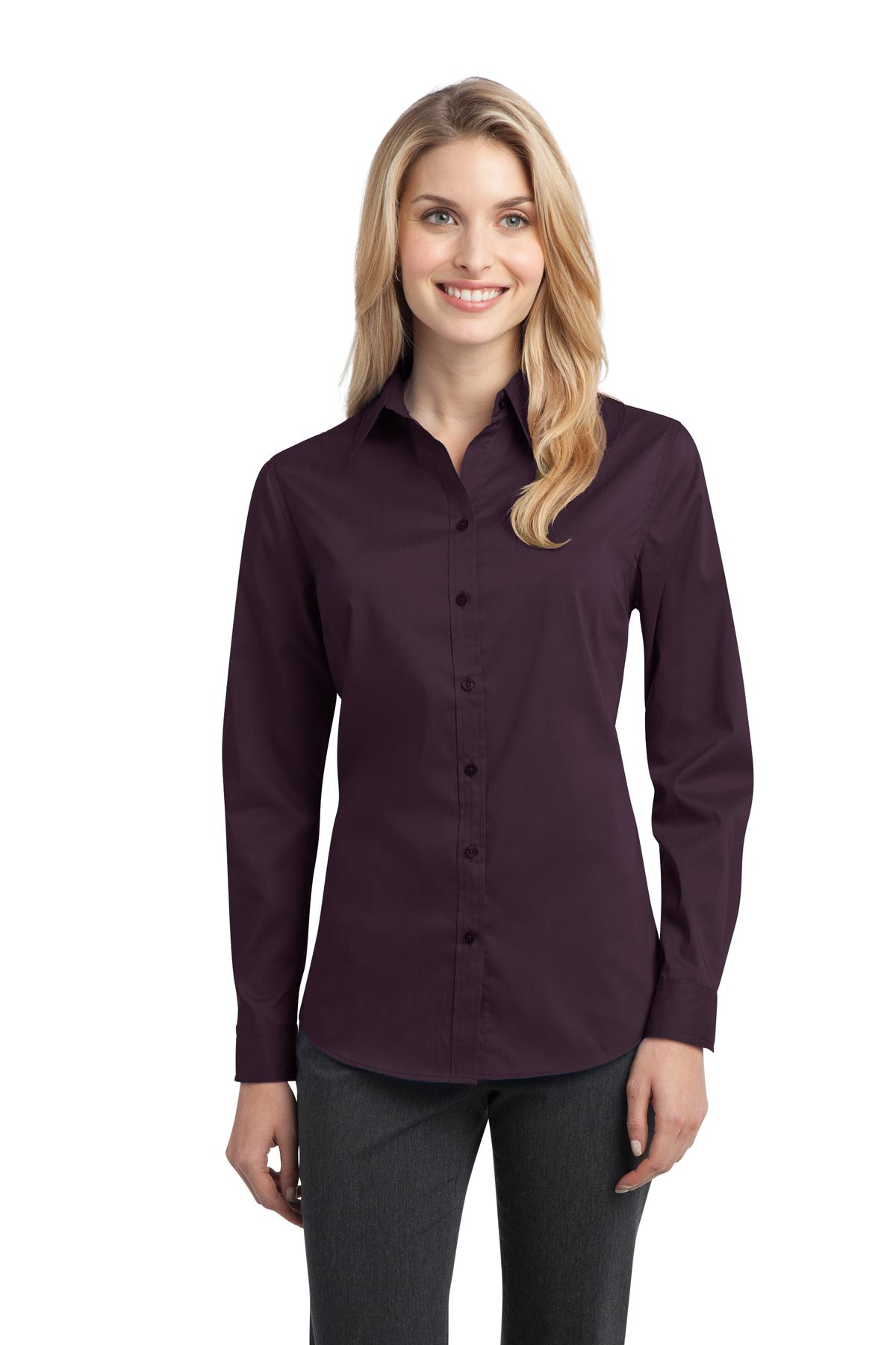 Port Authority ®  Ladies Stretch Poplin Shirt. L646