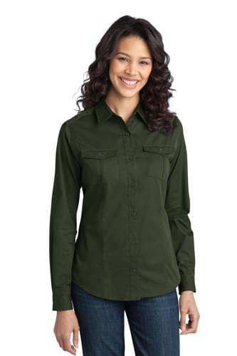 Port Authority ®  Ladies Stain-Release Roll Sleeve Twill Shirt. L649