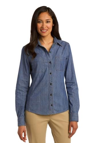 Port Authority ®  Ladies Patch Pockets Denim Shirt. L652