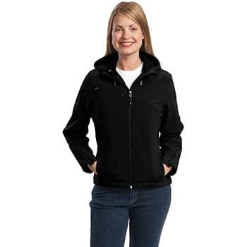 Port Authority ®  Ladies Textured Hooded Soft Shell Jacket. L706