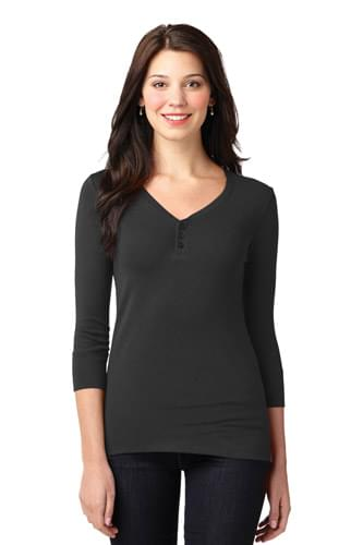 Port Authority ®  Ladies Concept Stretch 3/4-Sleeve Scoop Henley. LM1007