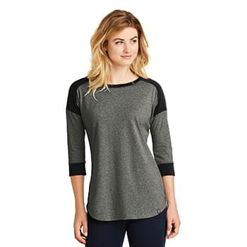 New Era  ®  Ladies Heritage Blend 3/4-Sleeve Baseball Raglan Tee. LNEA104