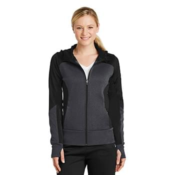 Sport-Tek ®  Ladies Tech Fleece Colorblock Full-Zip Hooded Jacket. LST245