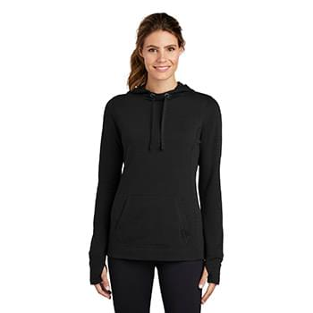 Sport-Tek  ®  Ladies PosiCharge  ®  Tri-Blend Wicking Fleece Hooded Pullover. LST296