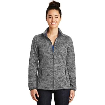 Sport-Tek ®  Ladies PosiCharge ®  Electric Heather Soft Shell Jacket. LST30