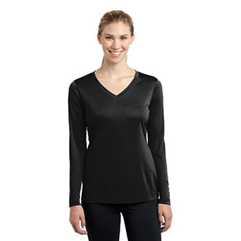 Sport-Tek ®  Ladies Long Sleeve PosiCharge ®  Competitor™ V-Neck Tee. LST353LS