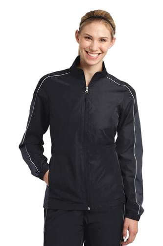 Sport-Tek ®  Ladies Piped Colorblock Wind Jacket. LST61