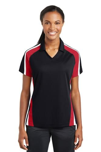 Sport-Tek ®  Ladies Tricolor Micropique Sport-Wick ® Polo. LST654