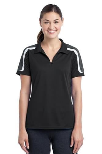 Sport-Tek ®  Ladies Tricolor Shoulder Micropique Sport-Wick ®  Polo. LST658