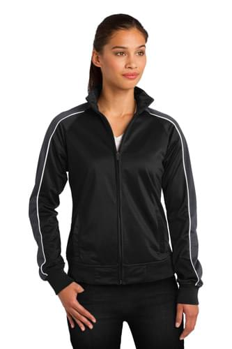 Sport-Tek ®  Ladies Piped Tricot Track Jacket. LST92