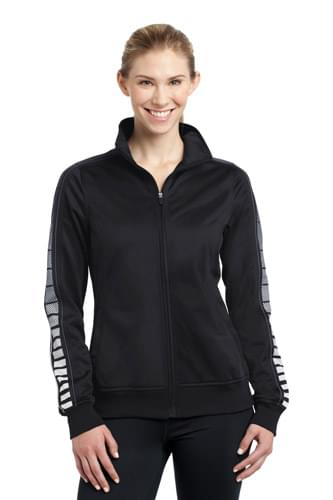 Sport-Tek ®  Ladies Dot Sublimation Tricot Track Jacket. LST93