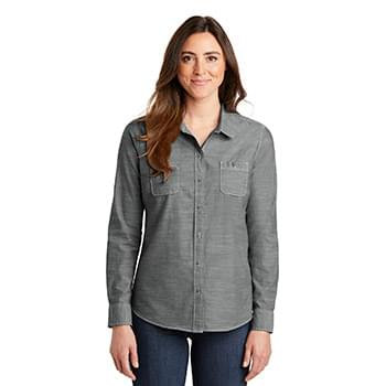 Port Authority ®  Ladies Slub Chambray Shirt. LW380